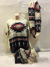 AMERICAN EAGLE WOMENS SWEATER & SCARF DOG SWEATER NEW