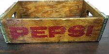 Primitive Antique Old Pepsi Wood Pop Crate