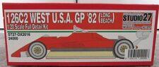 Studio27 1/20 FERRARI 126/C2 '82 GP WEST USA Long Beach Full detail metal kit