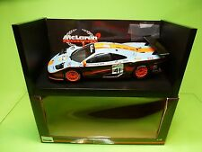 UT MODELS 39727 McLAREN F1 GTR LE  MANS 1997 - GULF BLUE 1:18 - EXCELLENT IN BOX