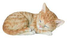 Real Life Sleeping Ginger Kitten Home or Garden Decoration (XRL-ZK37-F)