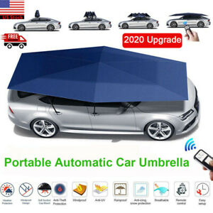 Fully Automatic Portable Anti-UV Protection Car Umbrella Tent Roof Cover Remote