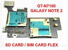 Genuine Sim Card SD Memory Card Holder Flex For Samsung Galaxy Note 2 N7100