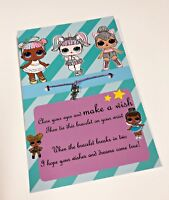LOL DOLL Surprise Wish Bracelet - Birthday Gifts Party Favours Girl Charm B1