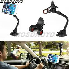 360°Rotating Universal Car Windshield Mount Bracket Holder For CELL Phone Black