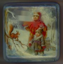 "One of a Kind Russian Lacquer Box ""Scenes of Russian Winter "" by  Pyastolov"