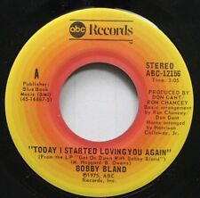 """Blues 45 Bobby Bland - """"Today I Started Loving You Again"""" / """"Too Far Gone"""" On Ab"""
