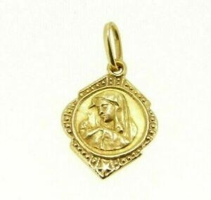 Pendant Religious Madonna Vintage Years' 50 IN Gold Solid 18K Made in Italy
