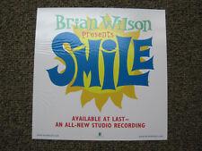 Original Brian Wilson Record Store Window Cling Rare Beach Boys
