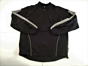 Majestic Cool Base Mens Size Small Black And Grey 1/4 Zip Pullover Windbreaker