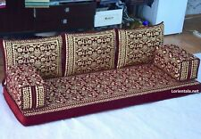 Flowers Gold Red Sofa Arabic Oriental Couches Bohemian Set Yoga Moroccan seating