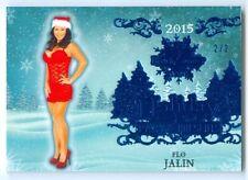 "FLO JALIN ""BLUE HOLIDAY BASE CARD #2/2"" BENCHWARMER HOLIDAY 2015"