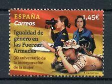 España 2018 estampillada sin montar o nunca montada la igualdad de género en las fuerzas armadas 1v conjunto Ejército Militar sellos