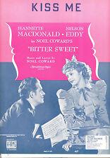 "BITTER SWEET Sheet Music ""Kiss Me"" Jeanette MacDonald Nelson Eddy"