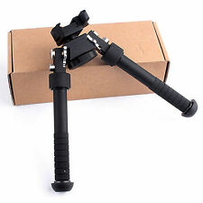 "4.75""-9"" Hunting Tactical Picatinny Rail Mount Foldable Adjustable Rifle Bipod"