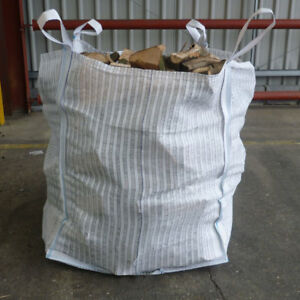 VENTED FIREWOOD LOG BULK BAGS 90 x 90 x 90cm VENTILATED WOVEN WPP SACK 500KGS