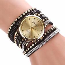 Womens Vogue DRESS Bracelet Watches Shinny Crystal Rivet Quartz WristWatch HOT