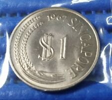 1967 Singapore $1 Stylised Lion Coin