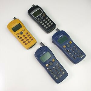 Lot of 4 Vintage Alcatel OT-300 Mobile Phones Since 2000 -Not Tested - For Parts