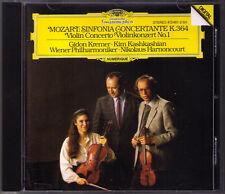 Gidon KREMER KASHKASHIAN HARNONCOURT: MOZART Sinfonia Concertante Concerto 1 CD