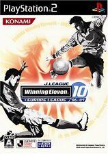 Used PS2 J-League Winning Eleven10 + Europe League 06 07 Japan Import