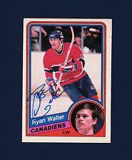 Ryan Walter signed Montreal Canadiens 1984 Opee Chee hockey card