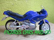 MOTO BMW au 1/18  R 1100 RS BLEUE MAISTO COQUE