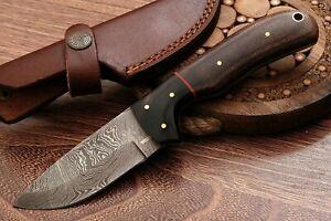 "Beautiful Handmade Damascus 8"" Steel Hunting Skinner Knife ""Micarta Handle"""