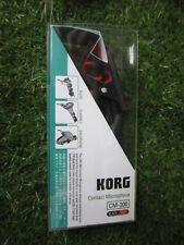 KORG Tuner Microphone CM-200-BKRD Piezo Clip Type Black Red From Japan
