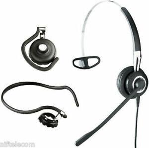 New Jabra BIZ 2400 USB Mono 3-in-1 NC Wideband Headset (P/N 2486-820-104)