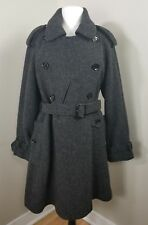 BURBERRY BRIT Women's Gray Coat size US 10 IT 44 UK 12