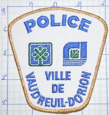 CANADA, VILLE DE VAUDREUIL-DORION POLICE DEPT QUEBEC GOLD EDGE PATCH
