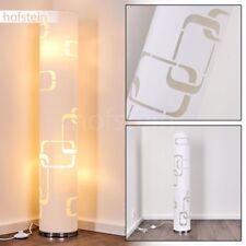 Stehleuchte rund Boden Schlaf Wohn Raum Flur Büro Muster Dekor modern Stoff weiß
