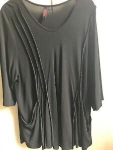 Krines Damen Shirt schwarz L