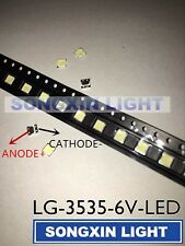 LG LED Innotek 60pcs Backlight Type Strip 2W 6V 3535 Cool White LCD for TV App