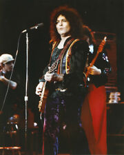 Marc Bolan original 1970's press photo in concert with T.Rex playing guitar