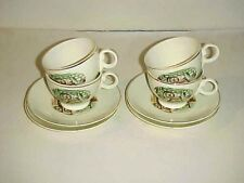 Taylor Smith Taylor TS&T 1095 Patt. Spinning Wheel Scene Cup and Saucer Sets