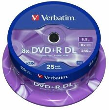 Verbatim Dvd + r 8.5 Gb 8x Speed 240min Imprimible Doble Capa Husillo Pack 25 (43667