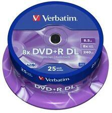 VERBATIM DVD+R 8,5 GB 8x Speed 240MIN Printable DUAL LAYER SPINDLE PACK 25 (43667