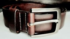 Classic belt for men 100% Leather brown color  40 size