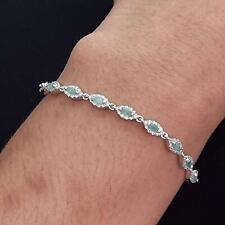 World Class 2.50ctw Emerald & Diamond Cut White Sapphire 925 Bolo Bracelet 7.4g