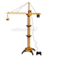 Toy Crane 128cm High Rise Tower Lift Construction Crane Wire Control Model  A