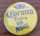Vintage Corona Extra Viva Mexico! Small Button Free Shipping