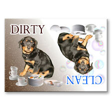 ROTTWEILER Clean Dirty DISHWASHER MAGNET No 1 Puppy DOG
