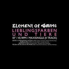 """Element of Crime - Lieblingsfarben und Tiere 10"""" Maxi vinyl"""