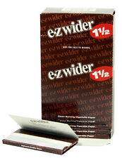 One (1) Box of E-Z Wider 1 1/2 Cigarette Rolling Papers - 79mm - 24 Booklets
