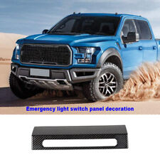 Emergency Warning Light Lamp Switch Decor Cover For Ford F150 2015+ Caber Fiber