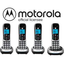 Motorola 4 Handset Cordless Phone System w/ Digital Answering Machine CD4014