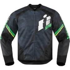 Blousons verts textile pour motocyclette Homme