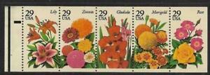 Scott 2829-33 US Stamp 1994 29c Summer Garden Flowers MNH Booklet Pane of 5